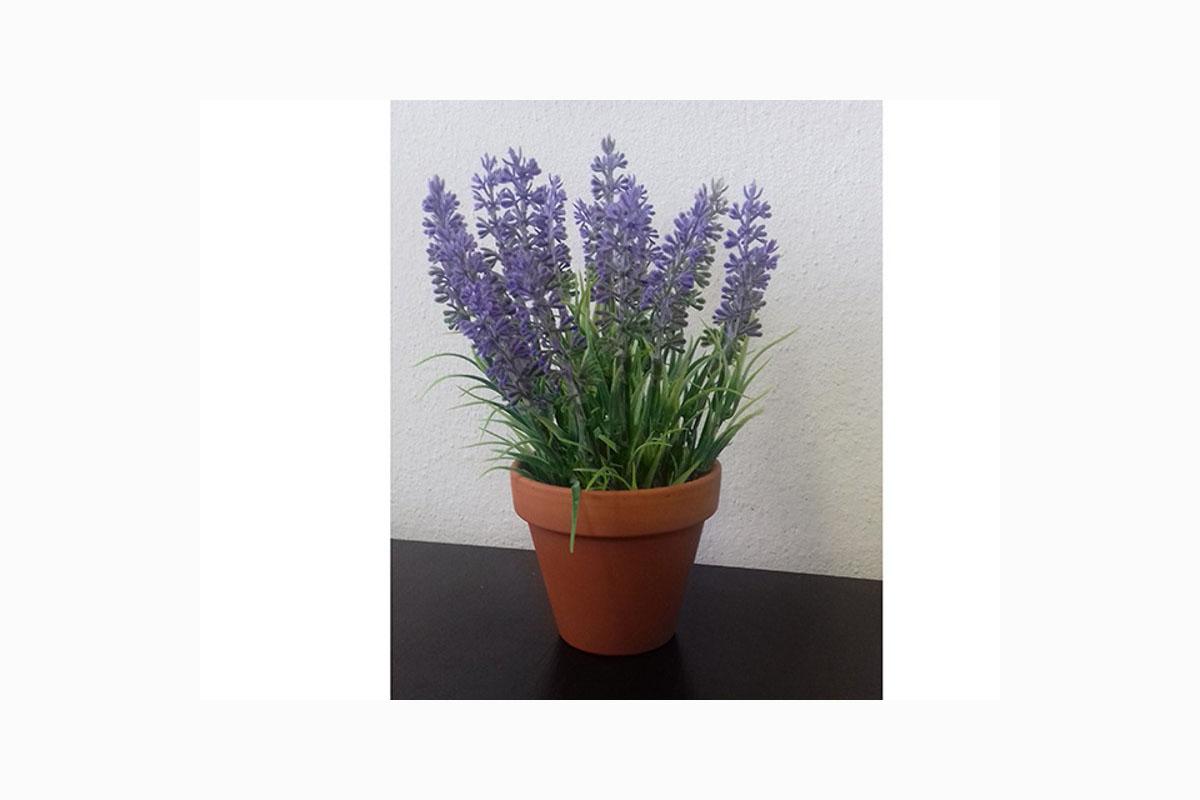 Autronic - Levandule v keramickém květináči, umělá květina - 1-1014A