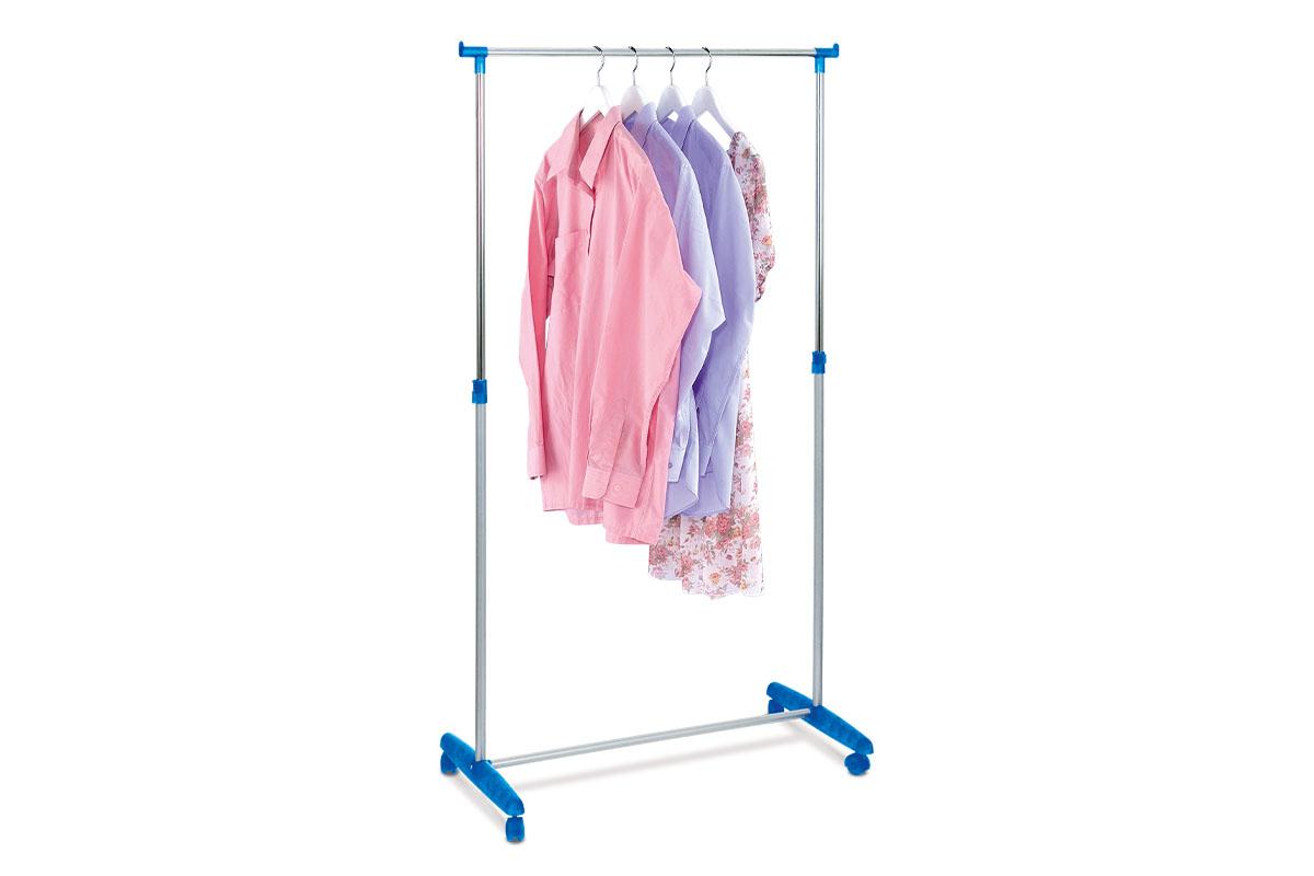 Autronic - Stojan na šaty, modrý plast / chrom - 51379 BLUE