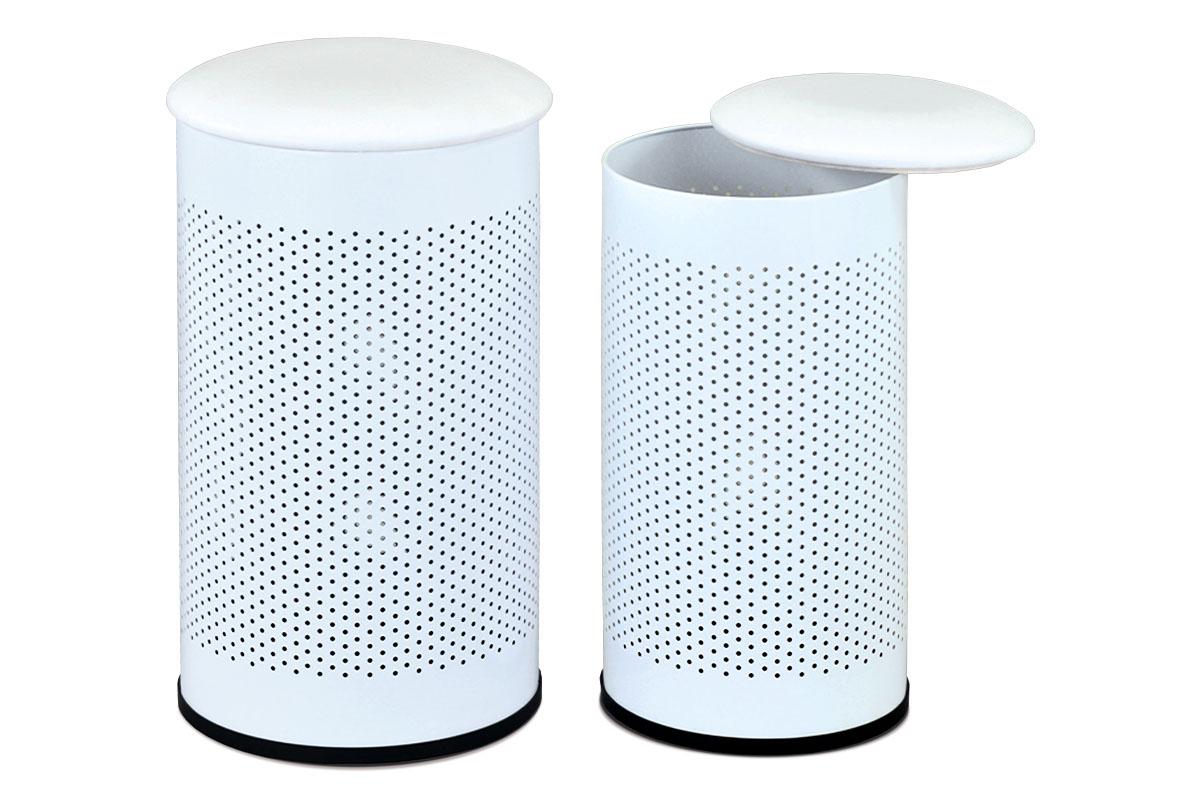 Autronic - Set 2 ks prádelní koš / taburet - 83300-01 WT