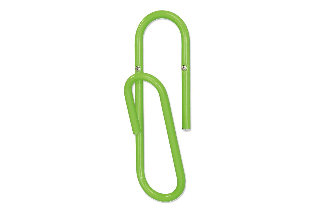 Autronic - Nástěnný věšák, zelený kov - 83972-30 LIM