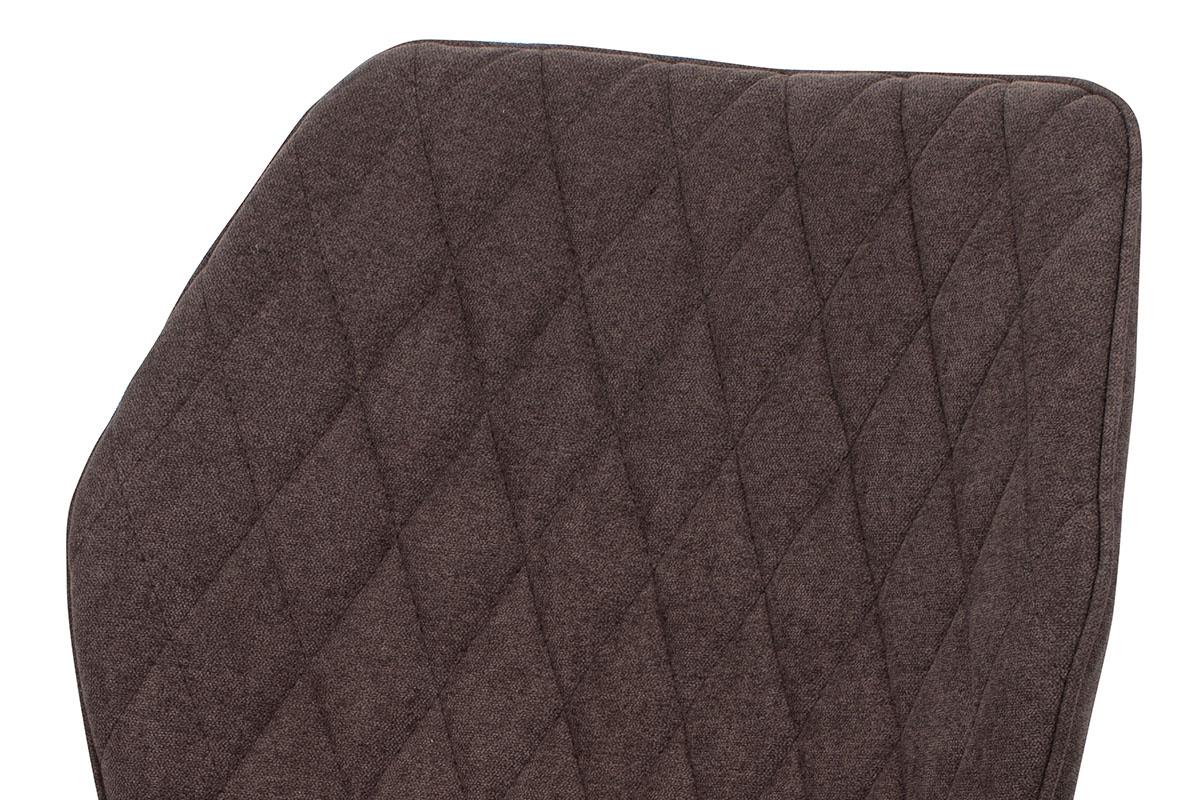 Jídelní židle, potah hnědá látka, kovová čtyřnohá podnož, antracitový matný lak - AC-1121 BR2