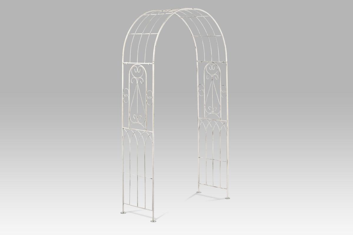 Autronic - Oblouk zahradnický kovový, barva antique bílá - AH15295-WH