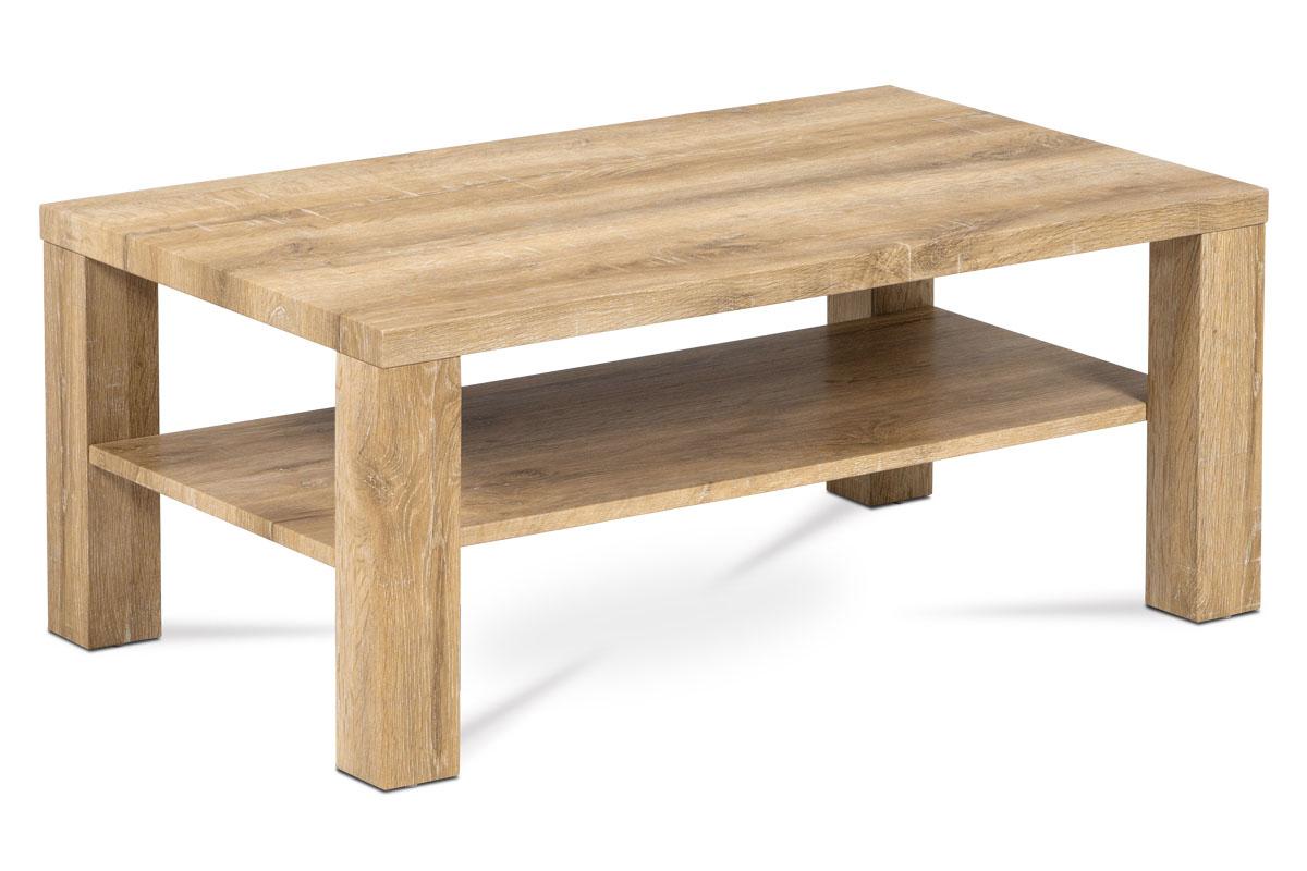 Autronic - Konferenční stolek 100x60x42, MDF bělený dub - AHG-113 OAK2