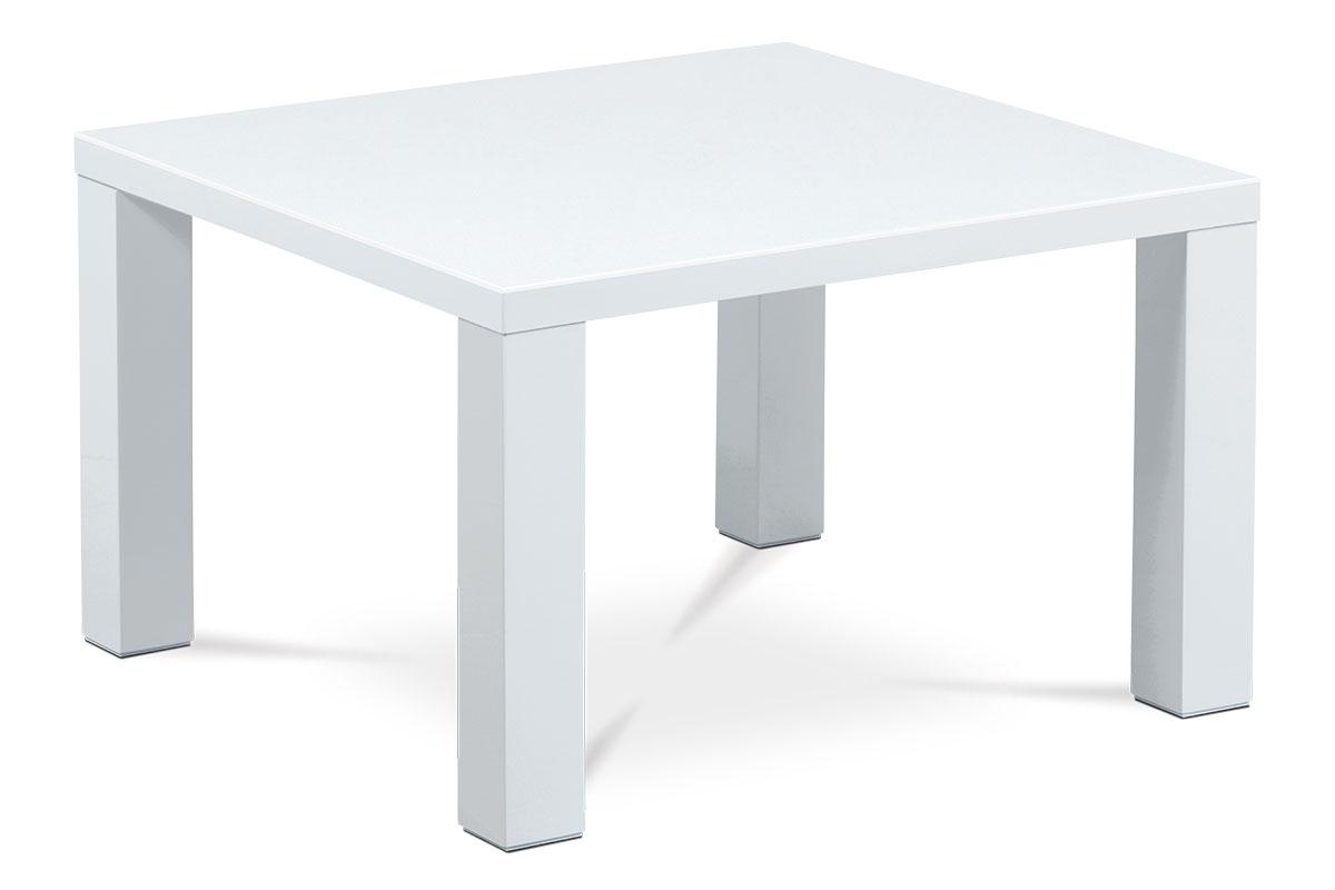 Autronic - Konferenční stolek 80x80x50, vysoký lesk bílý - AHG-501 WT