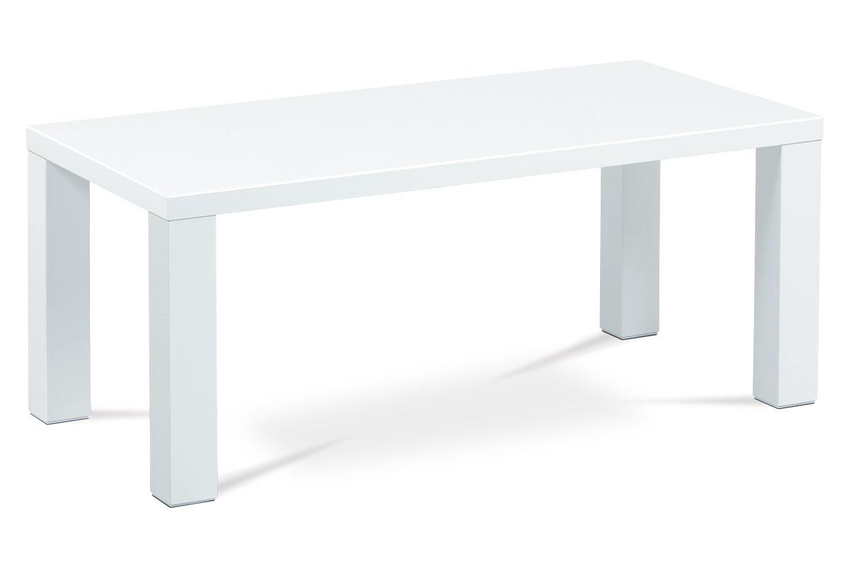 Autronic - Konferenční stolek 120x60x50, vysoký lesk bílý - AHG-502 WT