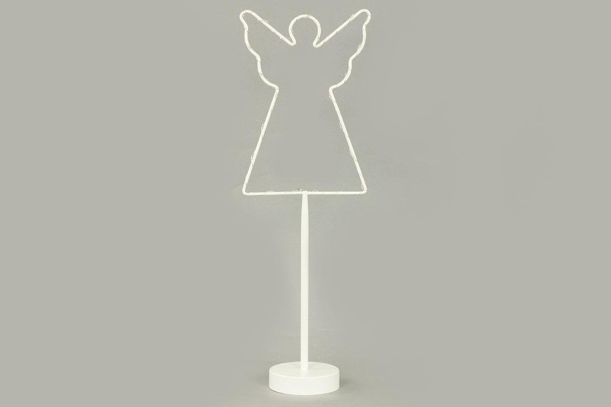 Autronic - Anděl, vánoční kovová dekorace s LED světlem - AN132