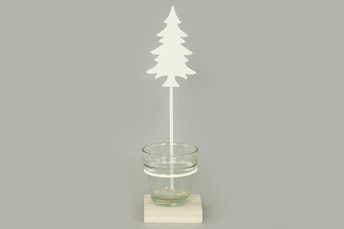 Autronic - Svícen se stromečkem, kovová vánoční dekorace - AN137