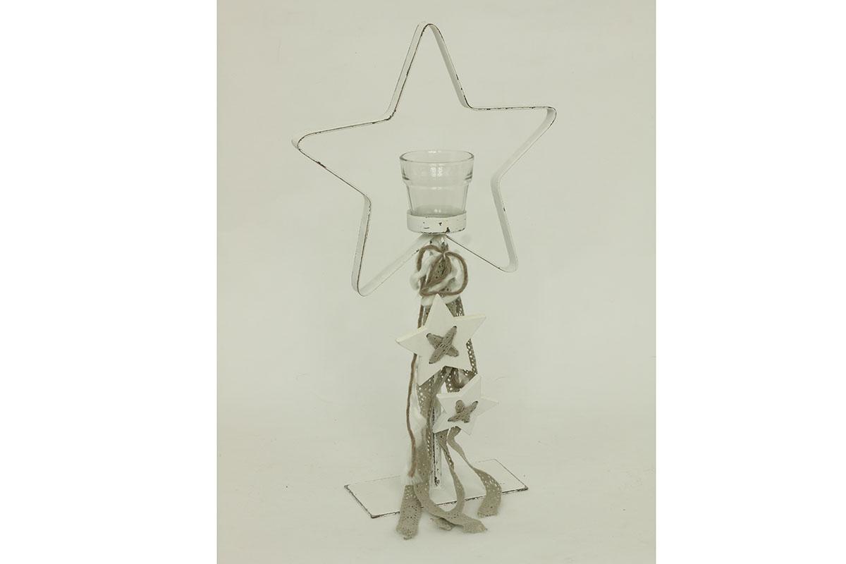 Autronic - Svícen kovový ve tvaru hvězdy - AN725808