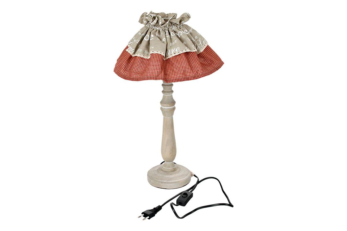 Lampa dřevěná se stínidlem