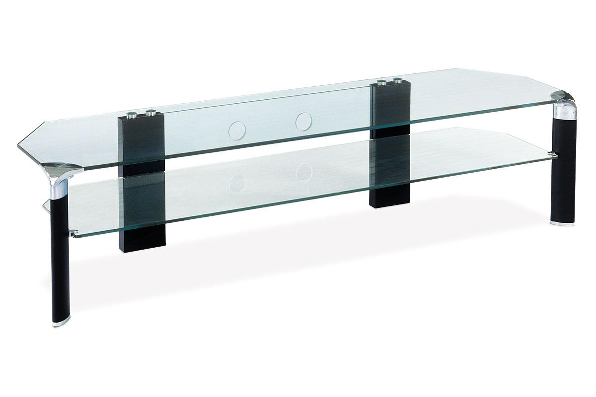 Autronic - TV stolek černé nohy / čiré sklo - ATV-019 BK