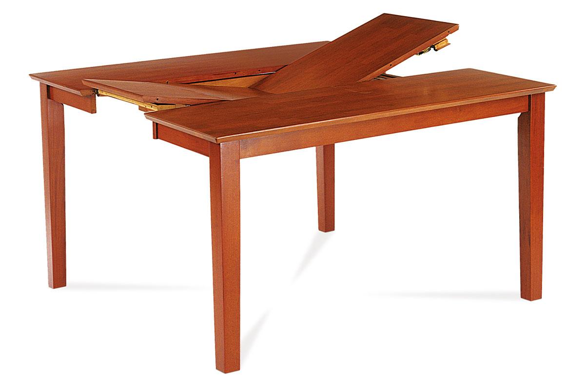 Jídelní stůl  rozkl. 91+45x136x75 cm, barva třešeň