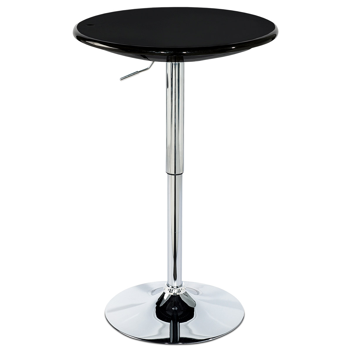 Autronic - Barový stůl, černý plast, chromová výškově nastavitelná podnož - AUB-4010 BK