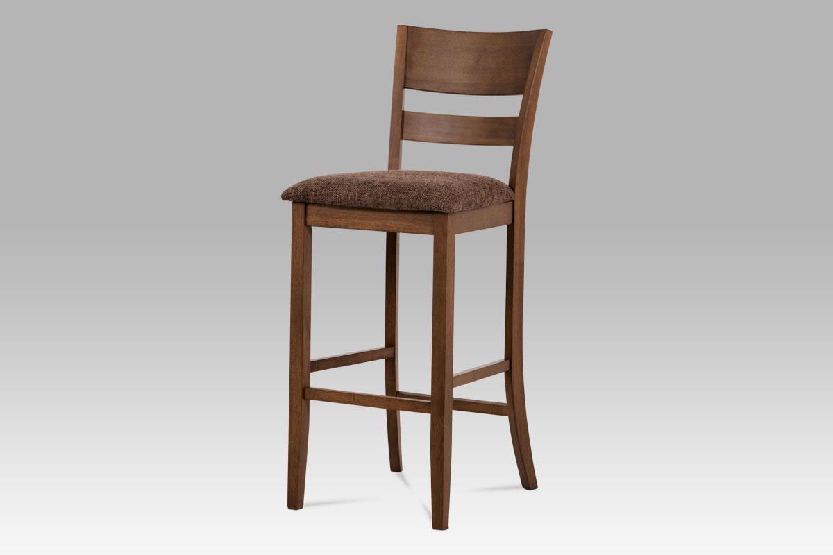 Autronic - Barová židle BEZ SEDÁKU, ořech - AUB-5527 WAL