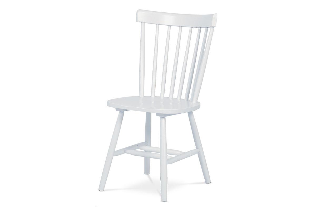Autronic - Jídelní židle bílá celodřevěná - AUC-003 WT