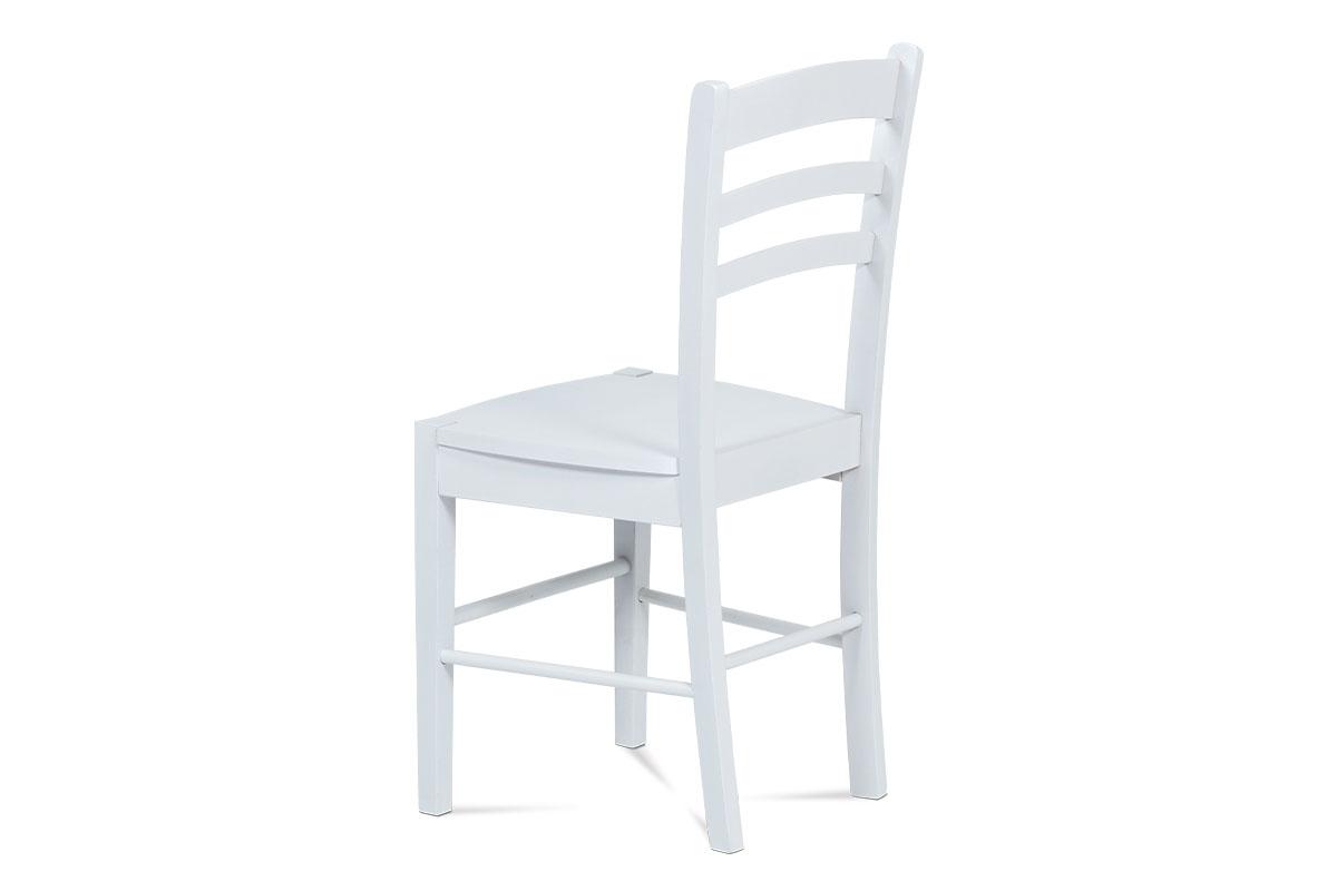 Jídelní židle celodřevěná, bílá - AUC-004 WT