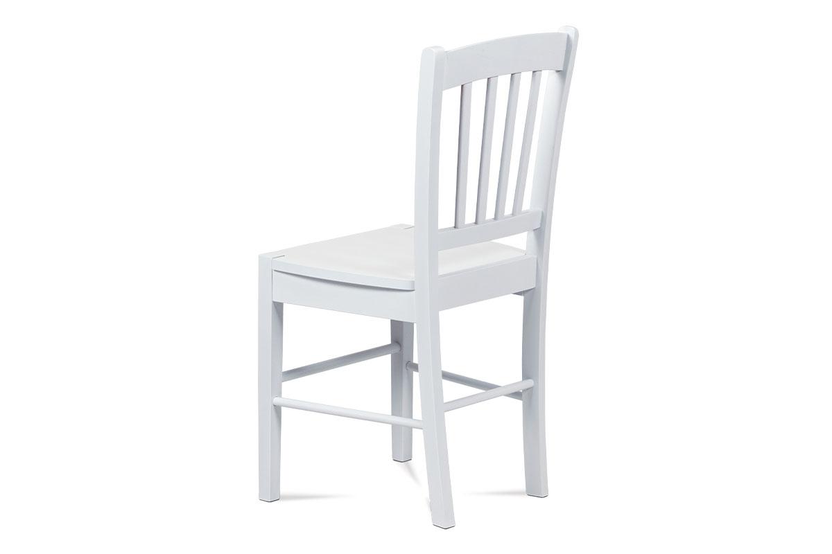 Jídelní židle celodřevěná, bílá - AUC-005 WT
