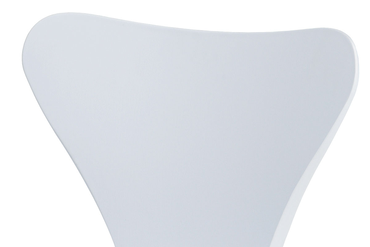 Jídelní židle, bílý plastový výlisek s dekorem dřeva, kovová chromovaná čtyřnohá - AURORA WT