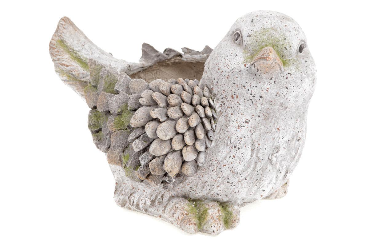 Autronic - Ptáček,dekorace z MgO keramiky s otvorem na květináč - AV4658