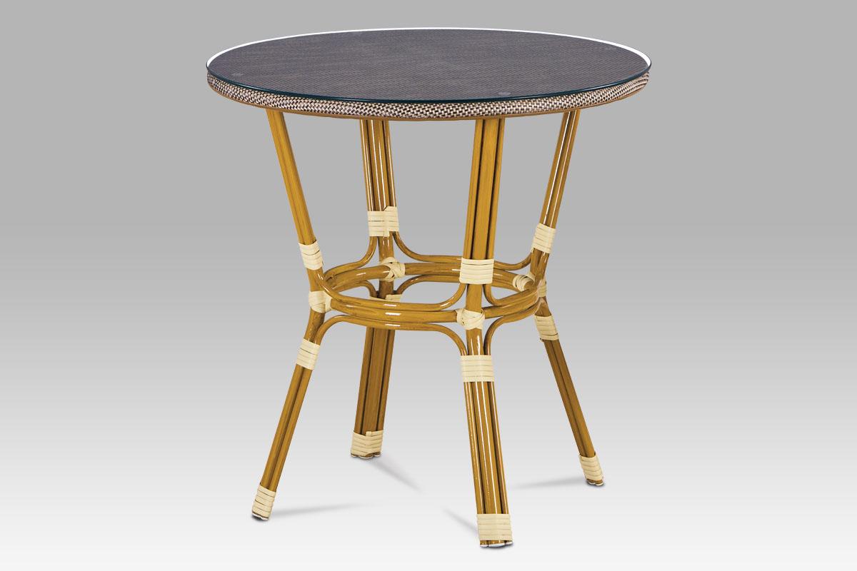 Autronic - Zahradní stůl, kov zlatý, plast černo-šedý - AZT-101 CAP
