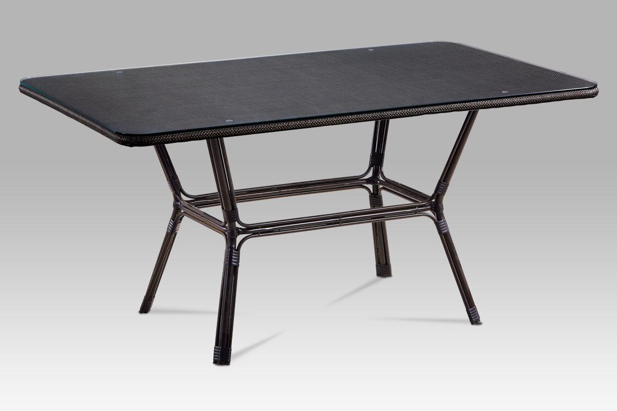 Autronic - Zahradní stůl, kov hnědý, plast černý - AZT-112 BK
