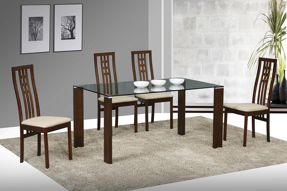 Jídelní židle BEZ SEDÁKU masiv buk, barva ořech - BC-12481 WAL