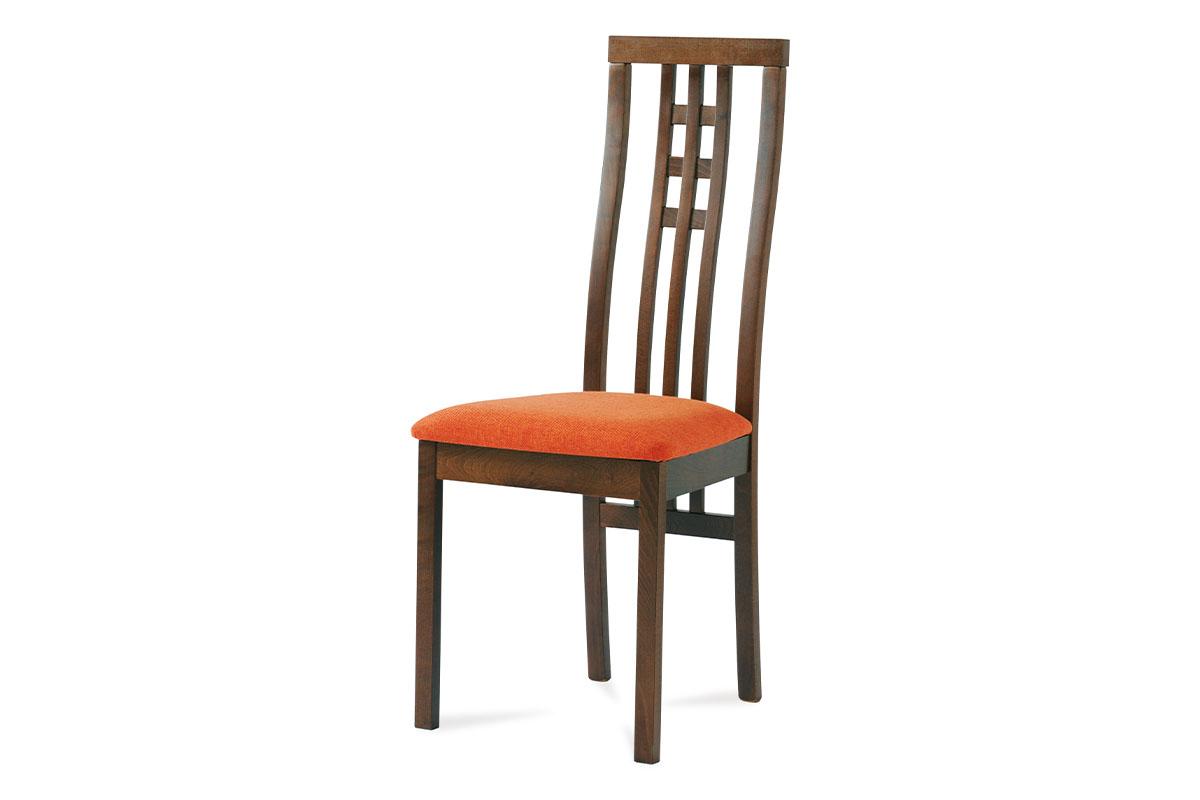 Autronic - Jídelní židle BEZ SEDÁKU masiv buk, barva ořech - BC-12481 WAL
