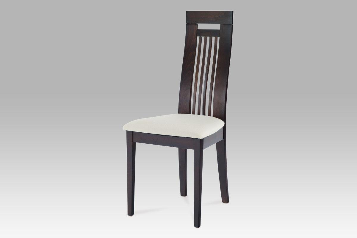Autronic - Jídelní židle BEZ SEDÁKU masiv buk, moření wenge - BC-22412 BK
