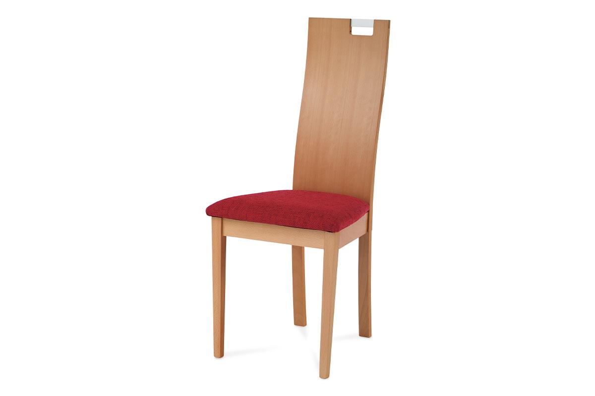 Autronic - Jídelní židle BEZ SEDÁKU, barva buk - BC-22462 BUK3