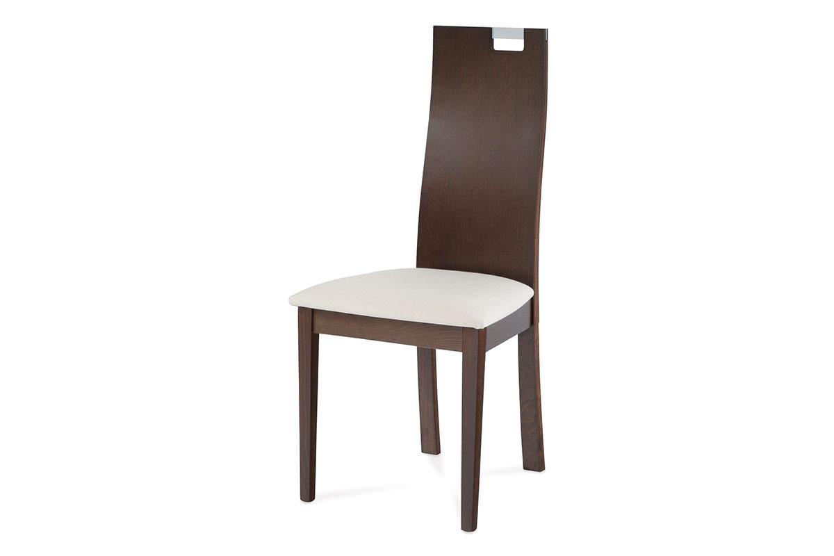 Autronic - Jídelní židle BEZ SEDÁKU, barva ořech - BC-22462 WAL