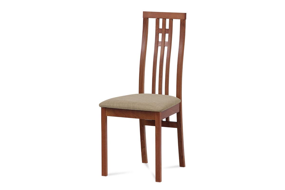 Autronic - Jídelní židle masiv buk, barva třešeň, potah krémový - BC-2482 TR3