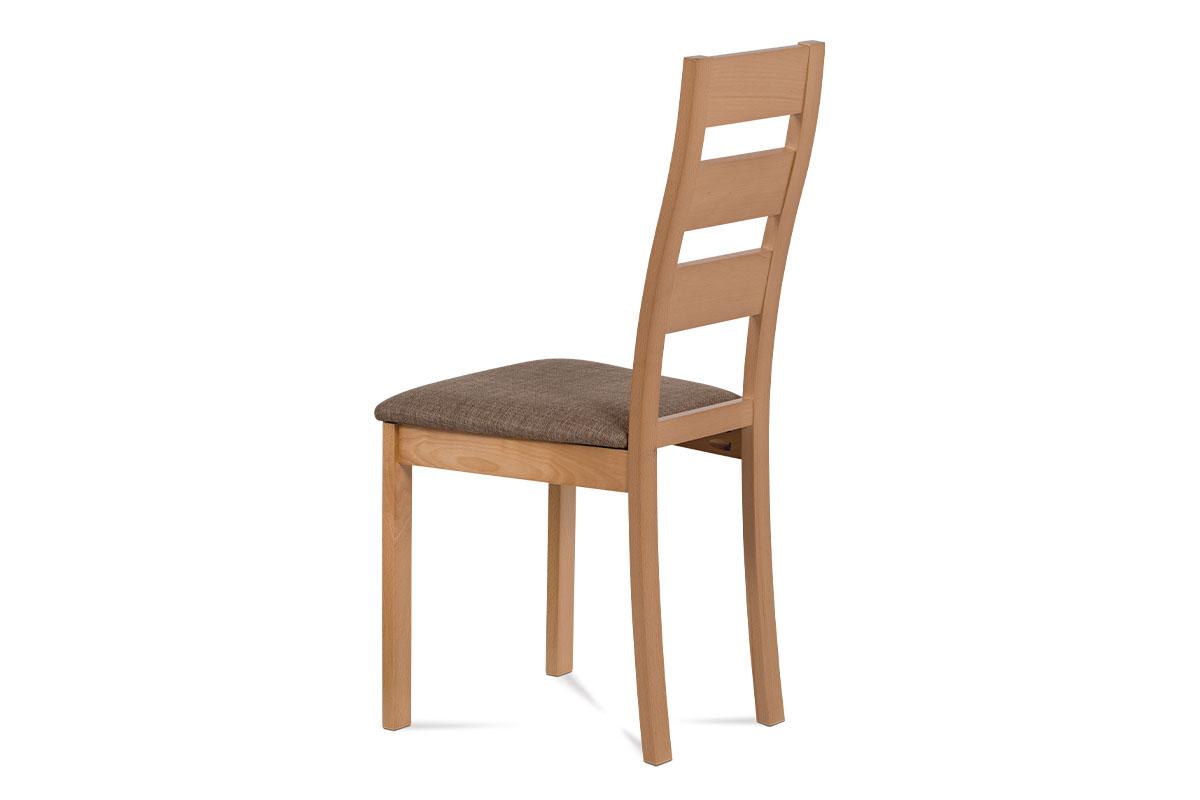 Jídelní židle, masiv buk, barva buk, potah hnědý melír - BC-2603 BUK3