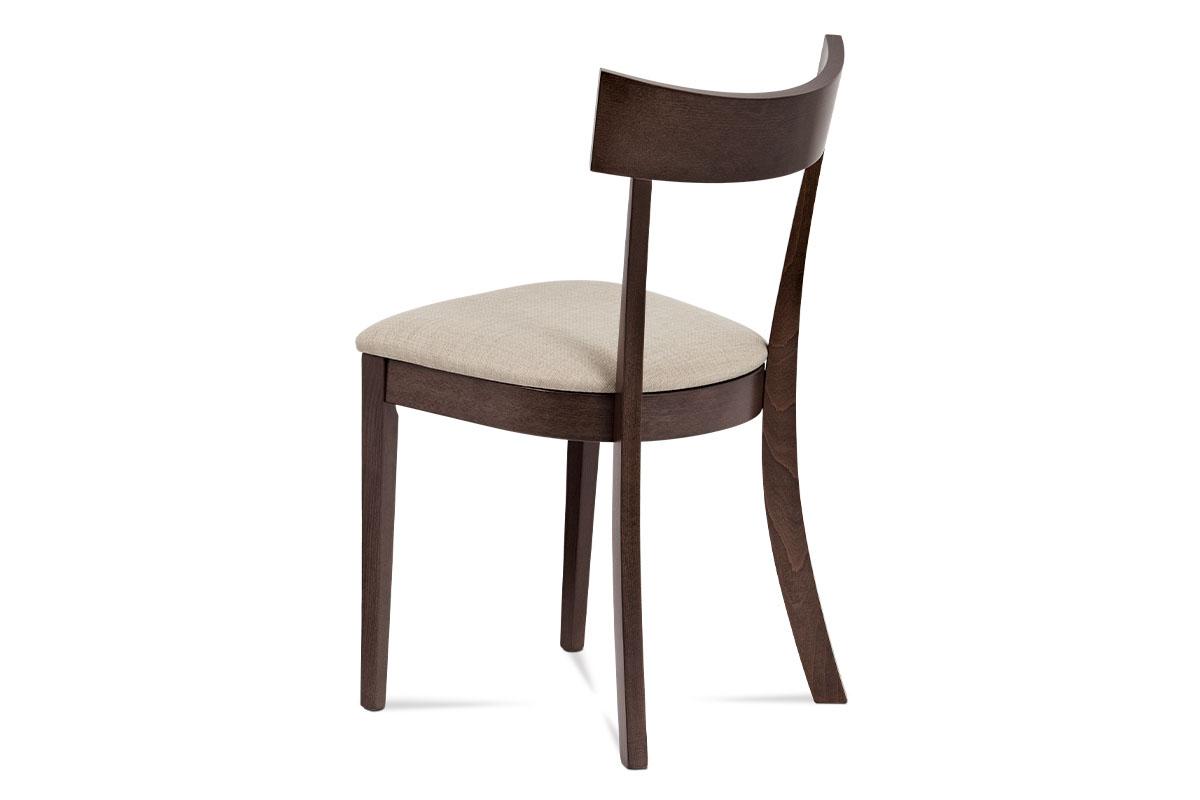 Jídelní židle, barva ořech, potah krémový - BC-3333 WAL