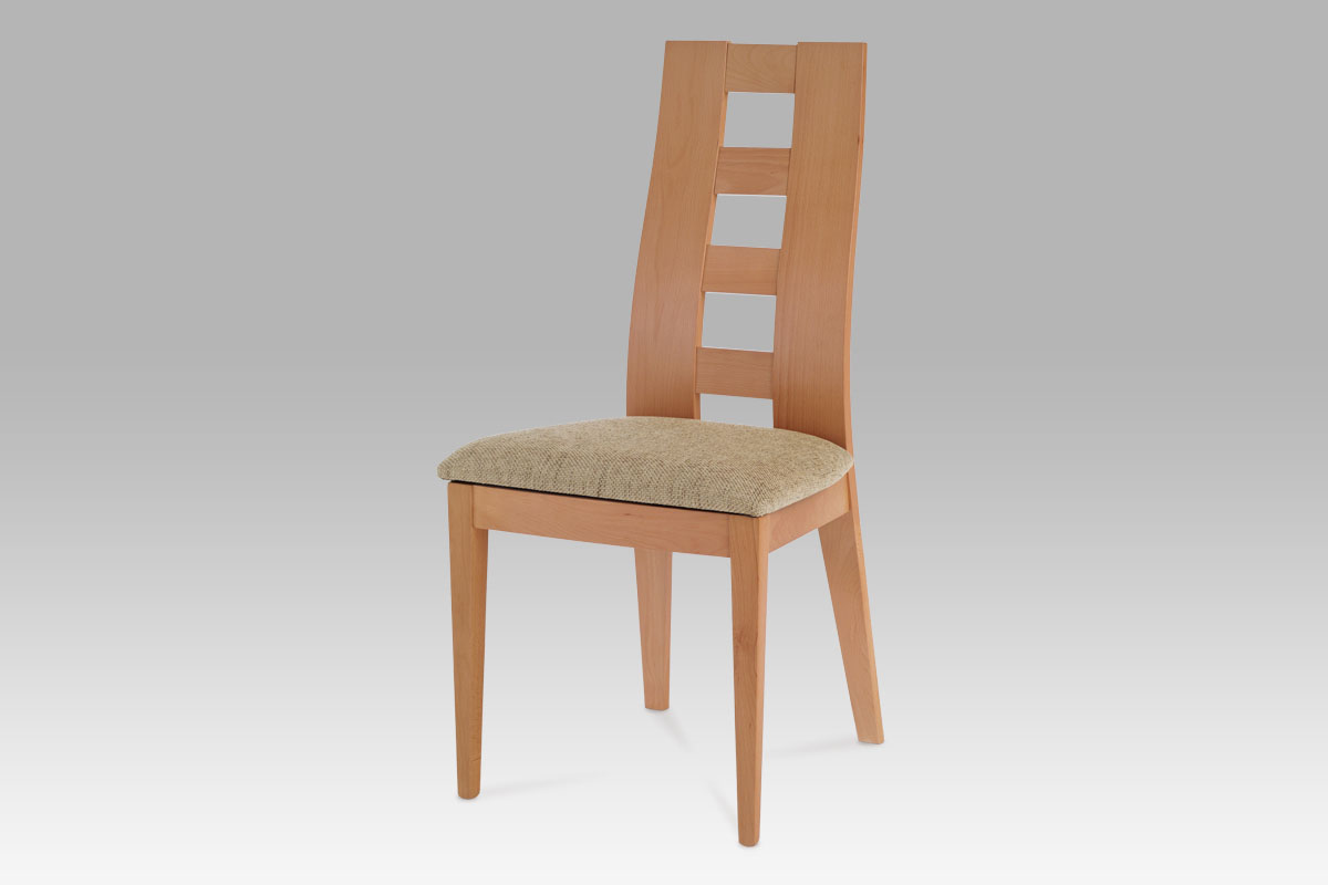 Autronic - Jídelní židle BEZ SEDÁKU, barva buk - BC-33904 BUK3