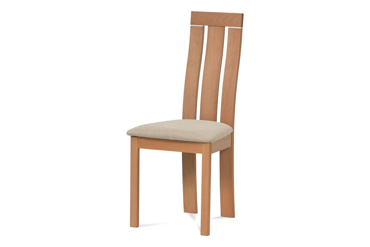 Autronic - Jídelní židle masiv buk, barva buk, potah krémový - BC-3931 BUK3