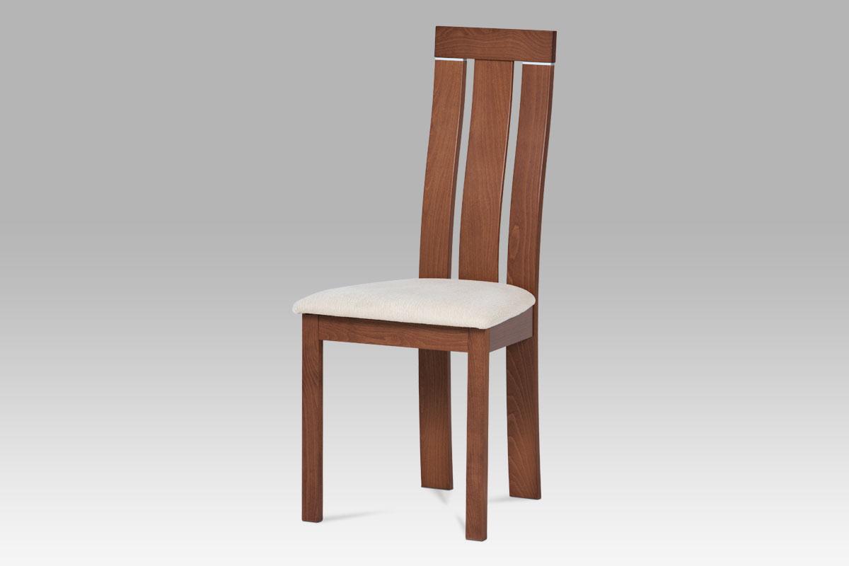 Autronic - Jídellní židle masiv buk, barva třešeň, potah krémový - BC-3931 TR3