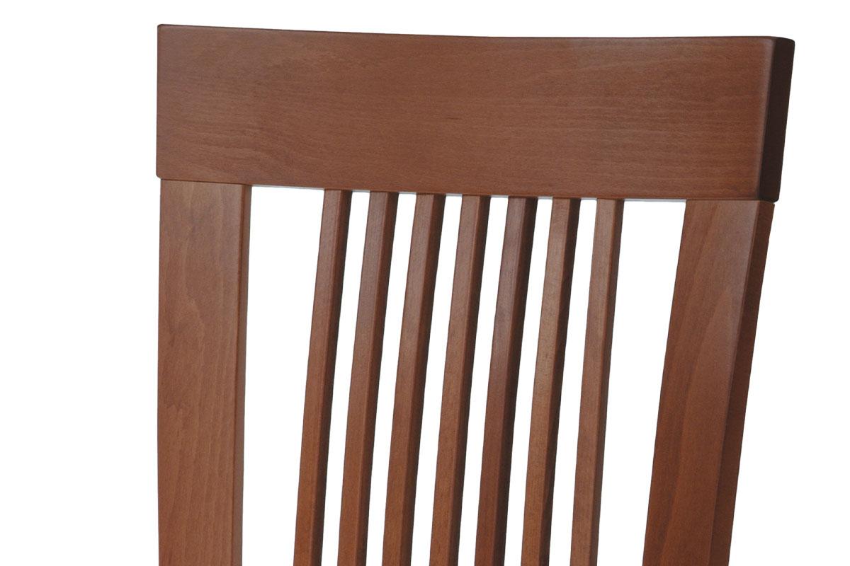 Jídelní židle, masiv buk, barva třešeň, látkový béžový potah - BC-3940 TR3
