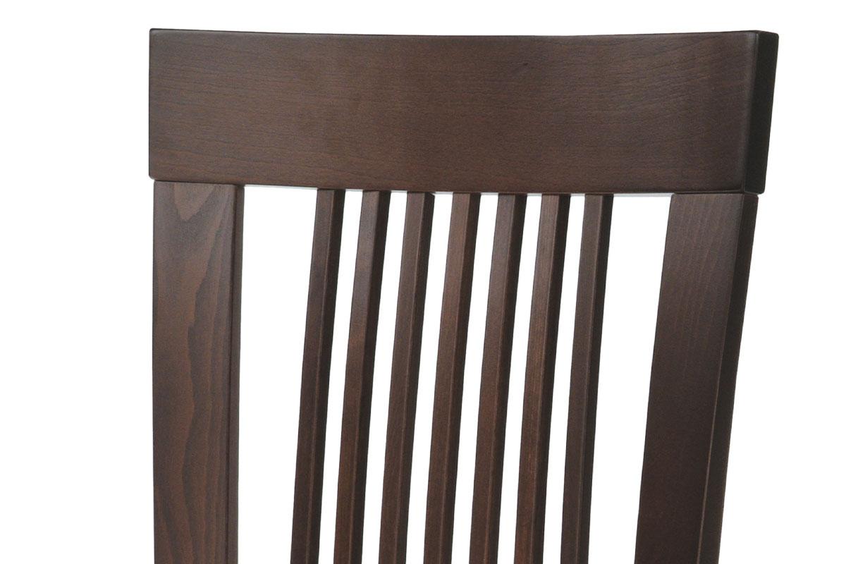 Jídelní židle, masiv buk, barva ořech, látkový béžový potah - BC-3940 WAL