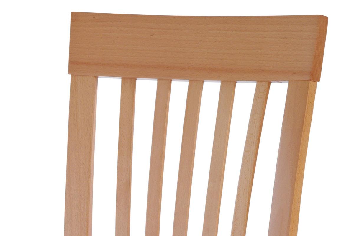 Jídelní židle, masiv buk, barva buk, látkový béžový potah - BC-3950 BUK3