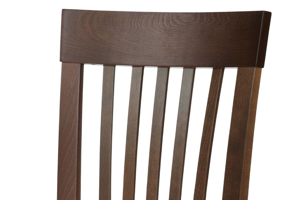 Jídelní židle, masiv buk, barva ořech, látkový béžový potah - BC-3950 WAL