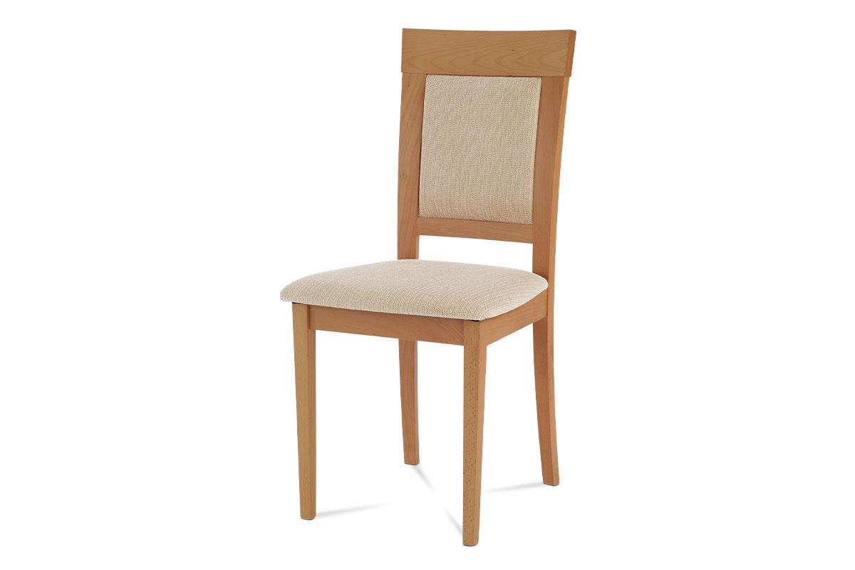 Autronic - Jídelní židle, buk, potah béžový - BC-3960 BUK3