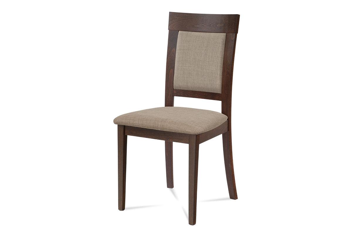 Autronic - Jídelní židle, ořech, potah krémový - BC-3960 WAL