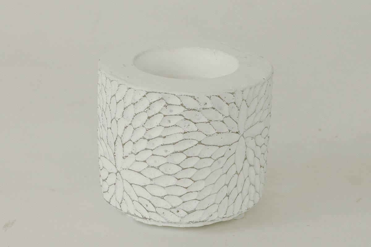 Autronic - Svícen betonový bílý - BCO759742