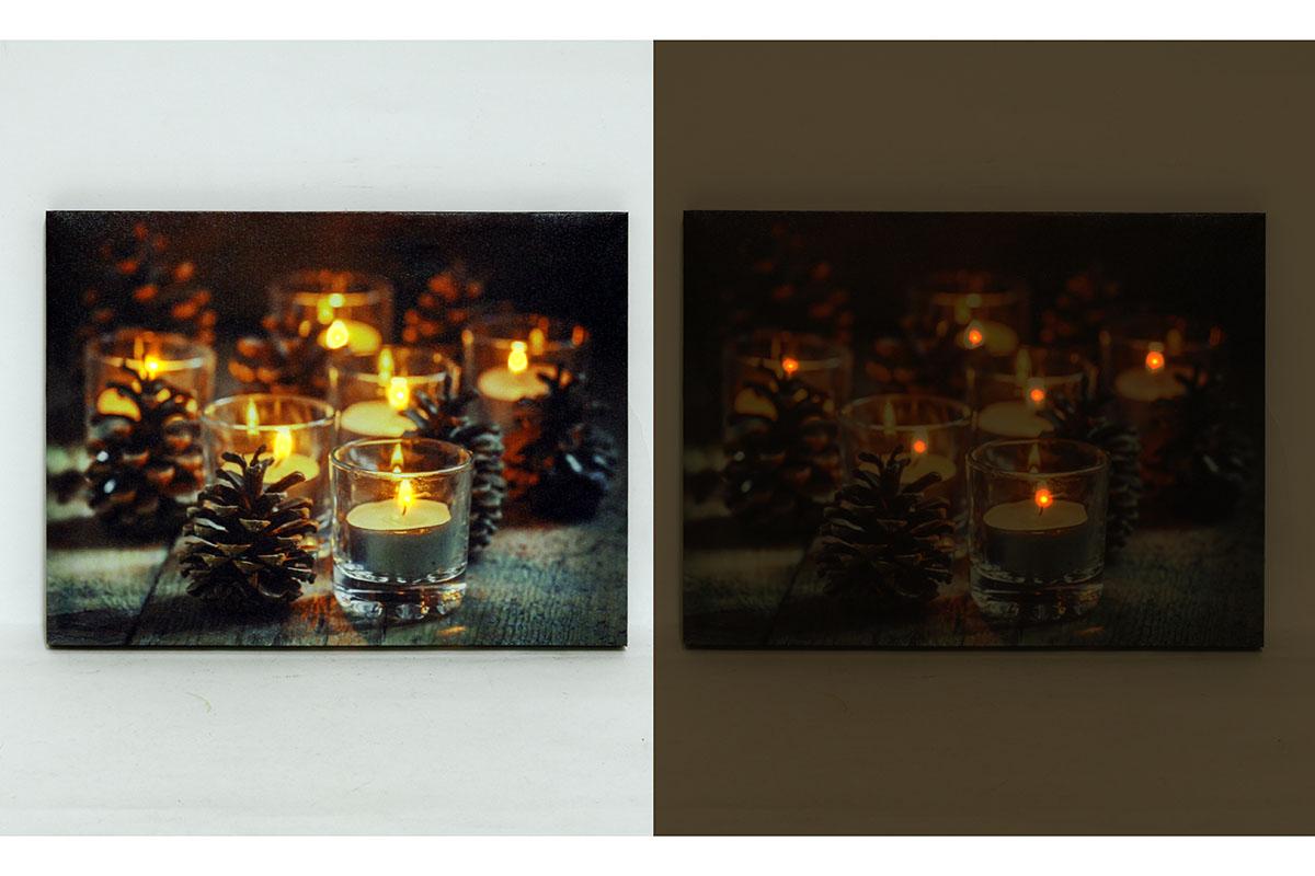 Autronic - Nástěnný obraz, svíticí - LED, zimní motiv - BD501