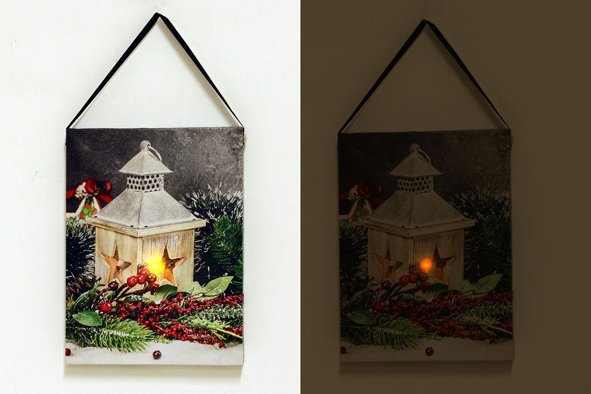 Autronic - Nástěnný obraz, svíticí - LED, zimní motiv - BD525