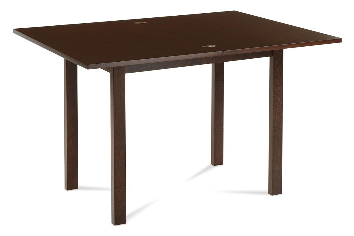 Jídelní stůl rozkládací 60+60x90 cm, ořech - BT-4723 WAL