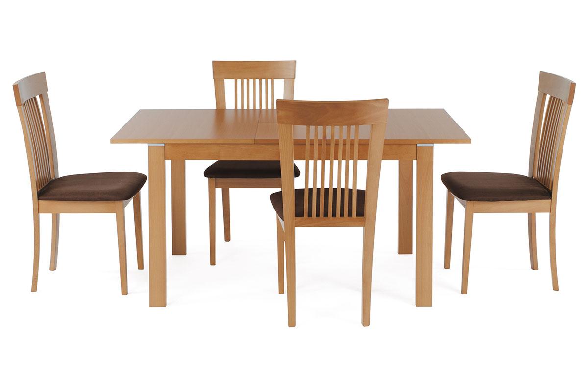 Jídelní stůl rozkládací 120+30x80 cm, barva buk - BT-6777 BUK3