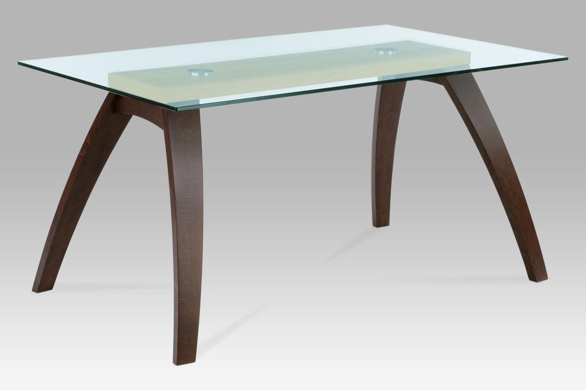 Autronic - Jídelní stůl 150x90x75 cm, masiv buk/sklo - BT-6802 BWAL