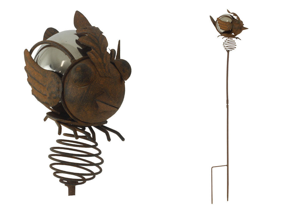 Autronic - Ptáček, zápich, kovová dekorace - BU4920