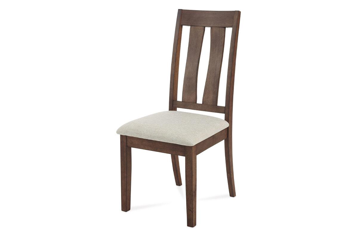 Autronic - Jídelní židle, ořech-antik, potah krémový - C-192 ANT