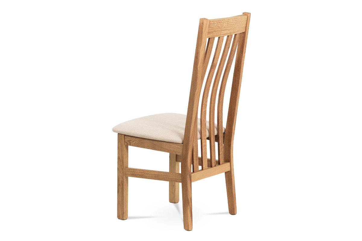 Jídelní židle, BEZ SEDÁKU, masiv dub, povrchová úprava tvrdovoskem - C-2100 OAK